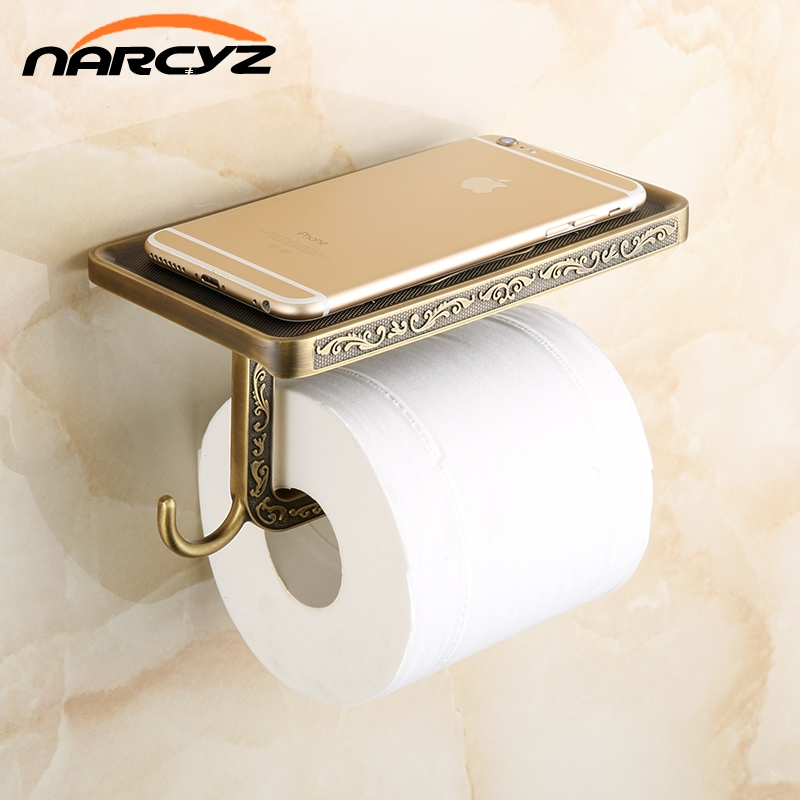 Newly Toilet Paper Holder Antique Carving Mobile Phone