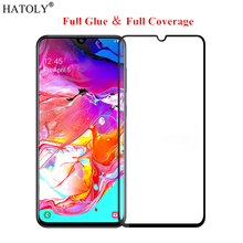 For Samsung Galaxy A70 Glass Tempered for Film 9H HD Full Glue Screen Protector