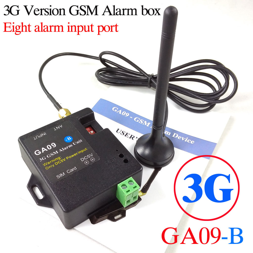 GA09-B Mini GSM Alarm and Alarm System with 3G and GSM App control alarm of 8 channel maryam ahmed automatic taxi trip sensing and indicating system though gsm