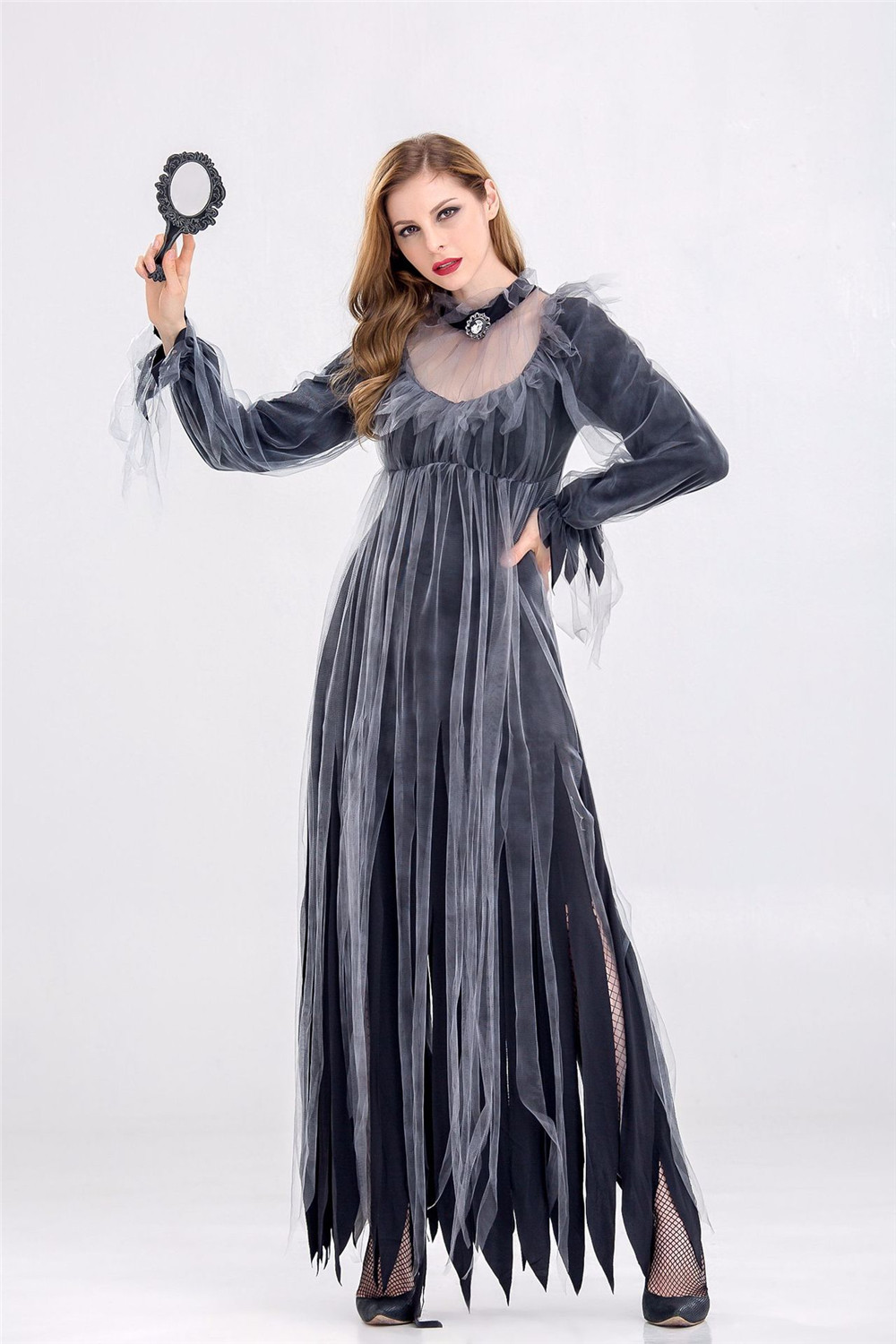 2018 Women Halloween Costumes New Horror Zombies Ghosts Bride Dress Bars Halloween Party Cosplay Devil Vampire Black Fancy Dress
