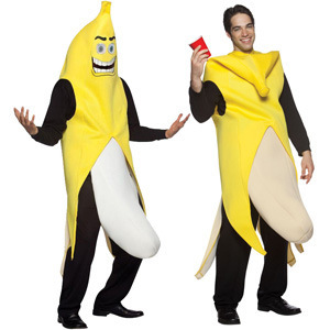 Funny Banana Fancy Dress Costume For Men Fruit Party Cosplay Disfraz Carnavales Os Carnival