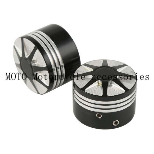 Motorcycle Front Axle Nut Cover Bolt Kit For Harley Touring Softail FLTR Edge Cut Front Axle Nut Cover Bolt Black