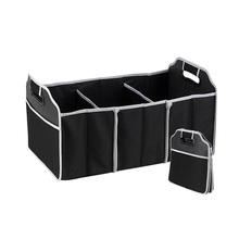 Black Non-Woven Folding Storage Bag Car Organizer Car Trunk Storage Package Automobile Stowing Tidying Interior Accessories