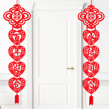 1 Pair Creative Double Happiness Chinese Wedding Supplies Party Love Couplet Door Hanging Decorative Festive