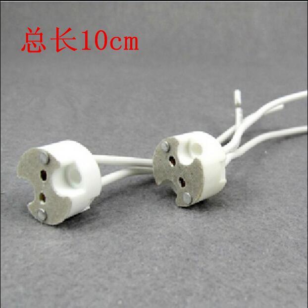 Led Lamp Holder Socket Base Halogen With Wire Miniature Bi Pin G4 G6 35 Gy6 Gx5 3 Mr16 Gz4 Mr11 Bulbs