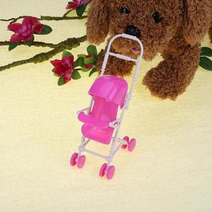 Image 5 - Baby Stroller Infant pink Carriage Stroller Trolley Nursery Toy For Doll Dollhouse Miniature Baby Gifts for Baby Girls