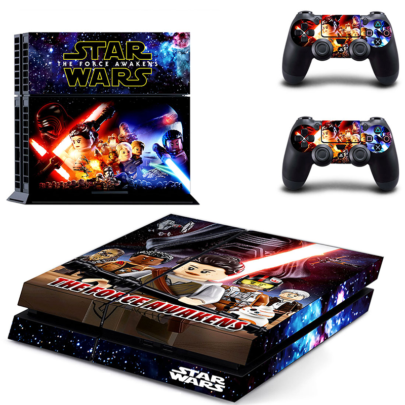 Image 3 - HOMEREALLY Stickers PS4 Skin Classic Star Wars PVC Sticker Cover For Sony Playstation 4 Console and Controller Skin Ps4-in Stickers from Consumer Electronics