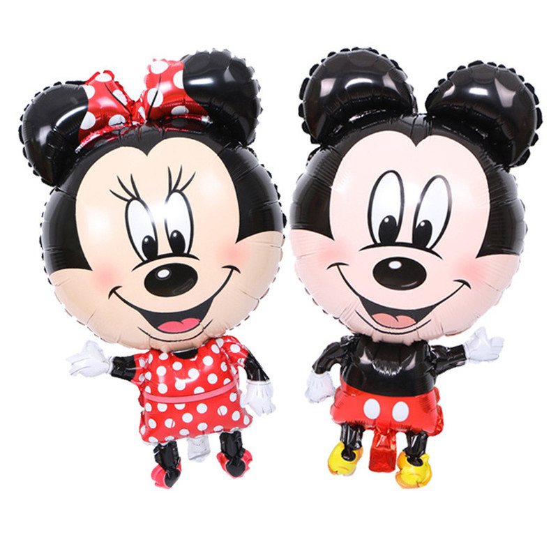 Lovely Cute 144cm Mickey Mouse Minnie foil balloon Kids Birthday Party Decoration Baby Shower Supplies Inflatable balloons