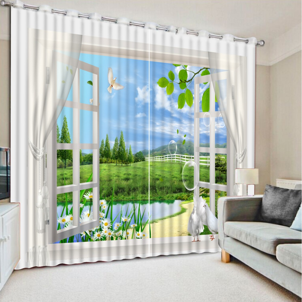 Landscape Scenery 3d Curtains For Living Room Window Treatments Modern Curtains For Beding Room High-precision Shade CL-DLM803