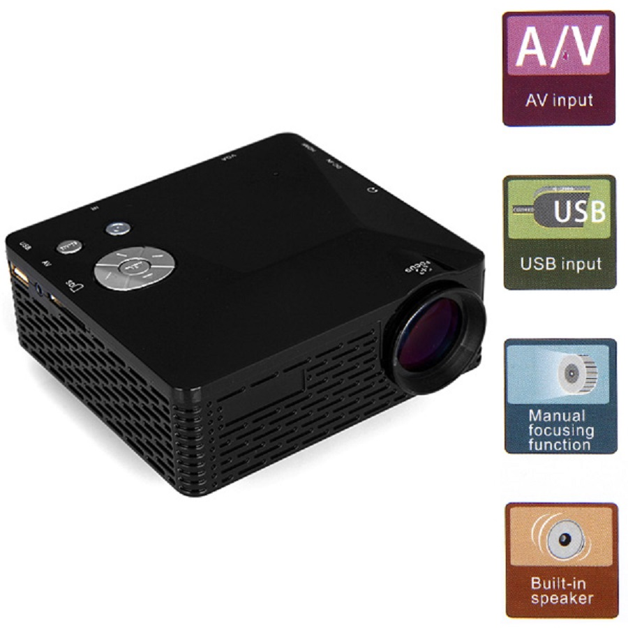 Mini led projector bl 18 portable pico projektor 60lumen for Usb projector reviews