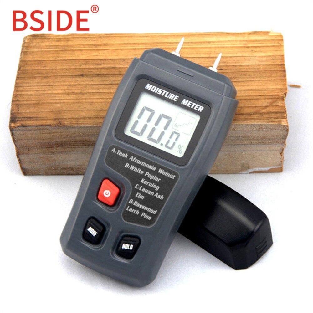 BSIDE EMT01 Zwei Pins Digital Holz Feuchtigkeit Meter 0-99.9% Holz Feuchtigkeit Tester Holz Damp Detector mit Großen LCD display