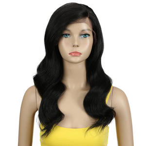 MAGIC Wigs Synthetic Hair-Part Heat-Resistant Lace-Front Body Brown Black-Women Ombre