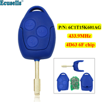 3 Button Remote Key FOB 433MHz ID63 4D63 6F Chip for Ford Transit WM VM 2006 2014 P/N: 6C1T15K601AG FO21