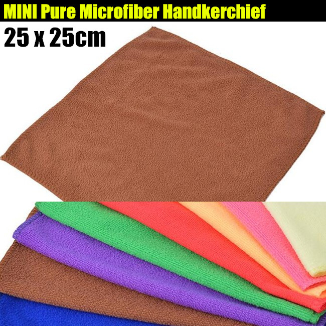 200p!25x25cm Unisex Children&Adult MINI Microfiber Pure Color Handkerchief,Quick-drying Hair Absorbent Small Handkerchiefs