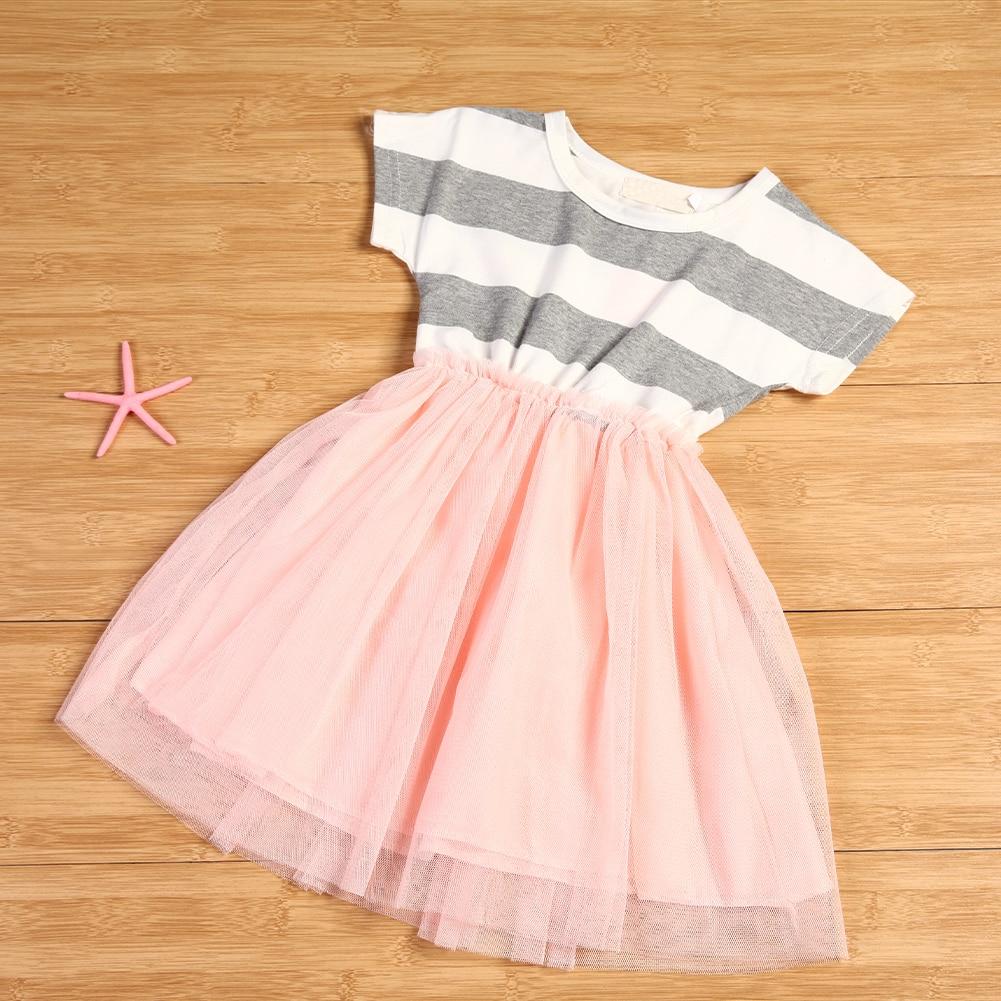 Baby Kinder Kleider für Mädchen Baumwolle Mesh Prinzessin Party ...