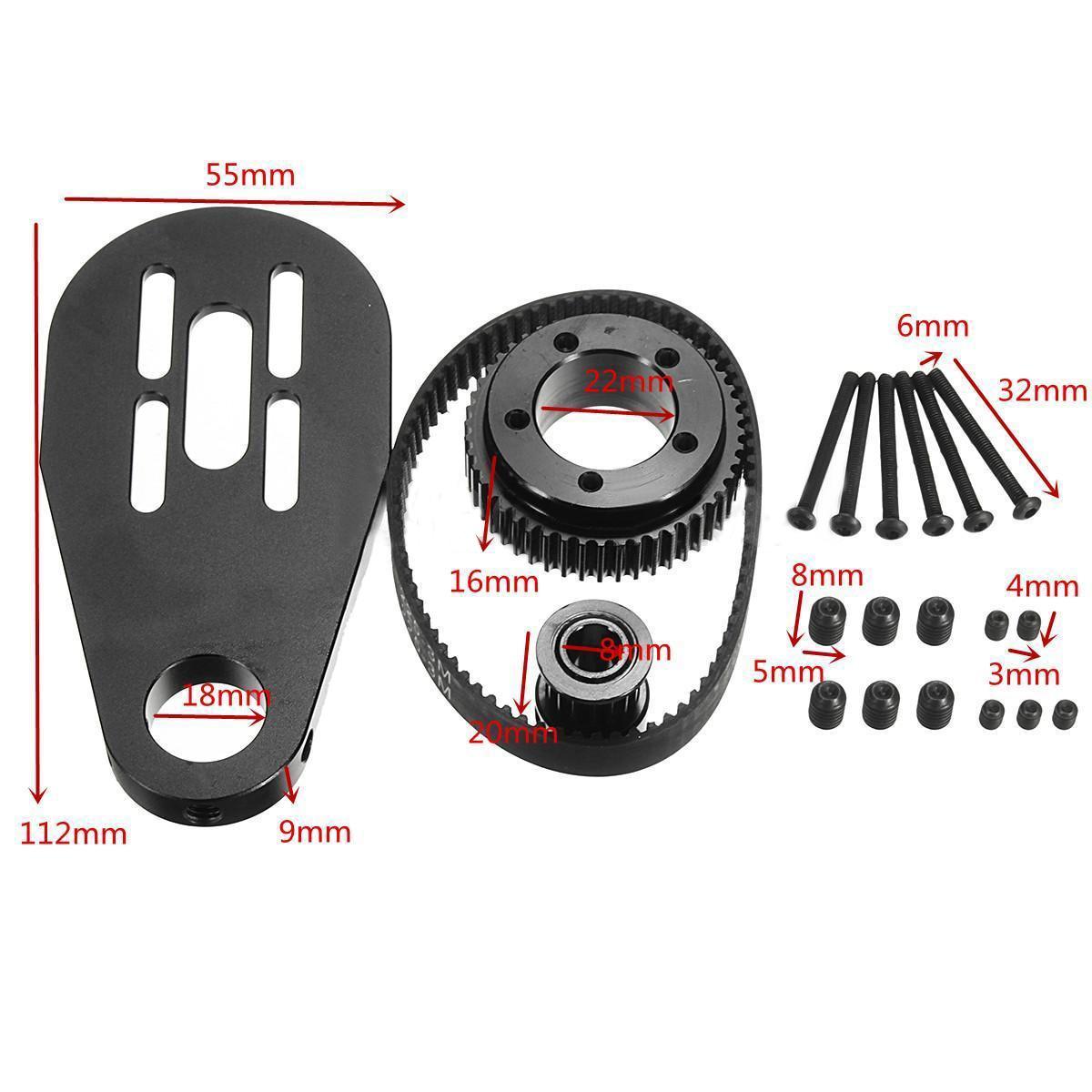 Kit de correa de montaje de polea de Motor de monopatín eléctrico Mayitr para polea de patín de 72mm 70mm con ruedas de acero inoxidable