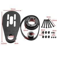 Mayitr Electric Skateboard Motor Pulley Mount Accessories Belt Kit For 72mm 70mm Wheels Stainless Steel Skate
