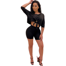 Summer new womens sexy jumpsuit two-piece fashion casual openwork suit yellow black gray