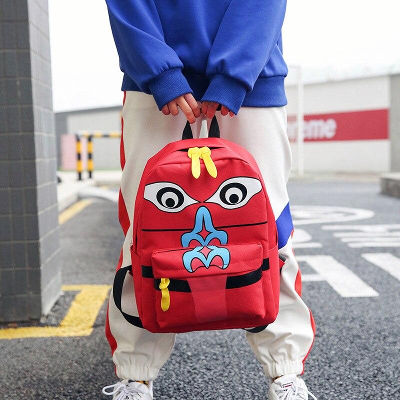 2018 printemps nouveau type de toile imprimée paquet grande capacité voyage sac à dos pour adolescentes femme école sac à bandoulière