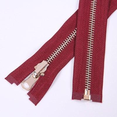 Alipress 5#90 см длинный открытый конец молния светильник золотые зубы металлические молнии для DIY шитья пуховик Куртка - Цвет: wine red
