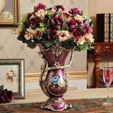 European retro resin vase creative living room home decoration