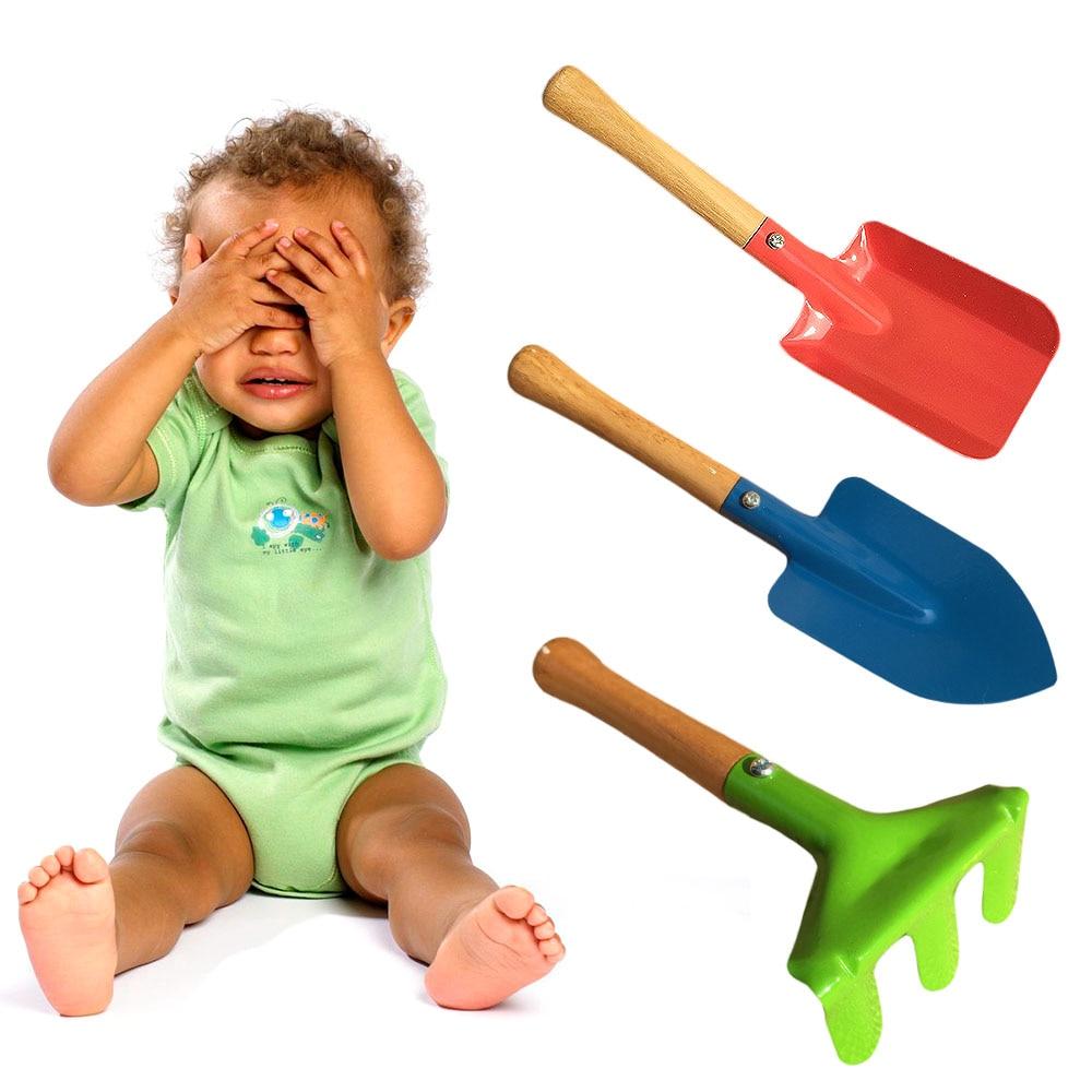 3Pcs  Kids Beach Toys Plastic Mini Garden Tools Children Kit Beach Sand Shovels Toys