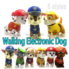 Walking Barking Musical Robot Dog Electronic pet Toys Interactive Electric Pets Plush Toy Dog Christmas Gift For Kids(China)