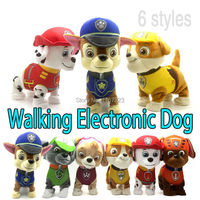 Walking Barking Musical Patrol Robot Dog Electronic Pet Toys Interactive Electric Pets Paw Plush Toy Dog
