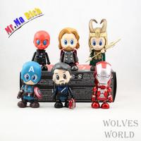 Movie Figure 8 Cm 6pcs/set Super Heroes Q Version Iron Man Captain America Thor Loki Pvc Action Figure Model Toys Dolls