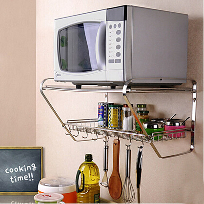 2 layers microwave shelf oven rack kitchen multi function - Estante para microondas ...
