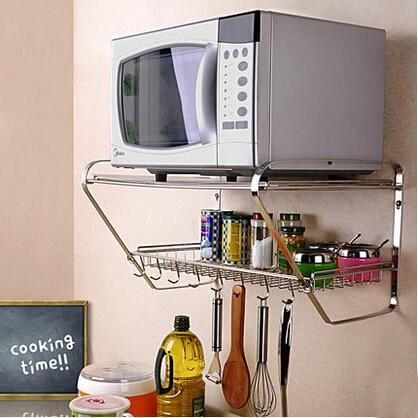 Cocina En El Microondas | 2 Capas Microondas Estante Estante Del Horno Cocina De Multiples