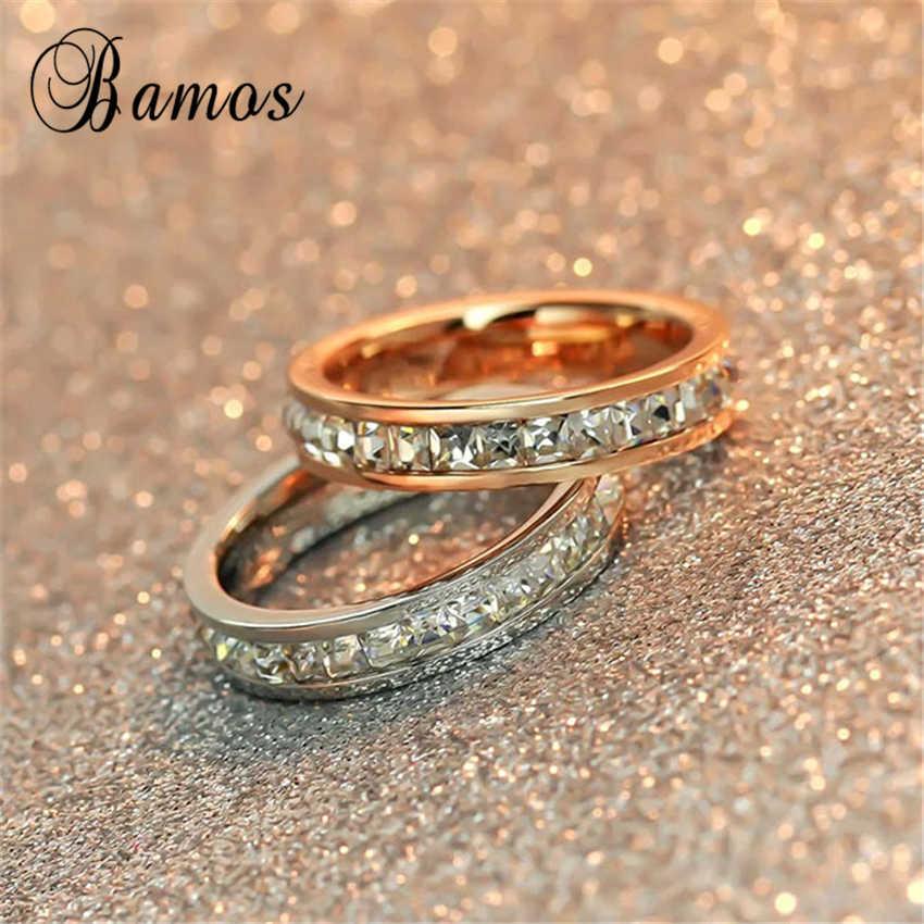 Anillo geométrico femenino de Plata de Ley 925 con relleno y anillo de oro rosa, anillos de compromiso de boda para mujeres, los mejores regalos