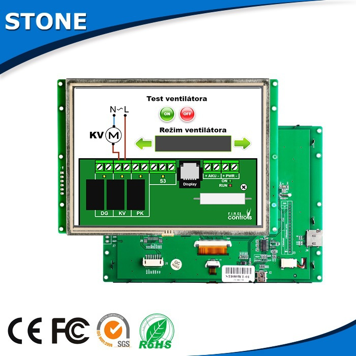 LCD Da 8.0 Pollici RS232/RS485/TTL Interfaccia Touch Screen Bordo di AutoLCD Da 8.0 Pollici RS232/RS485/TTL Interfaccia Touch Screen Bordo di Auto