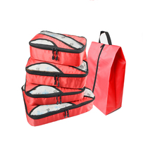 QIUYIN Travel Bag Men Red Luggagebag Waterproof Fashion Packing Cubes Luggage Women
