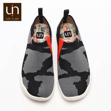 UIN Toledo U KNIT Design Men Casual Shoes Comfort Slip on Flat Sneakers Fashion Male Knitted Loafers