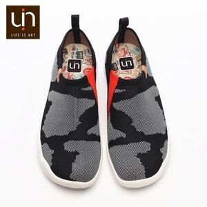 Image 1 - UIN Toledo Zapatillas para hombre informales cómodas y sin cordones, mocasines tejidos, diseño en U