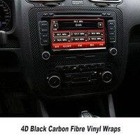 Автомобильный Стайлинг 4D Черная Виниловая пленка из углеродного волокна Классическая виниловая автоматическая упаковка виниловая пленка