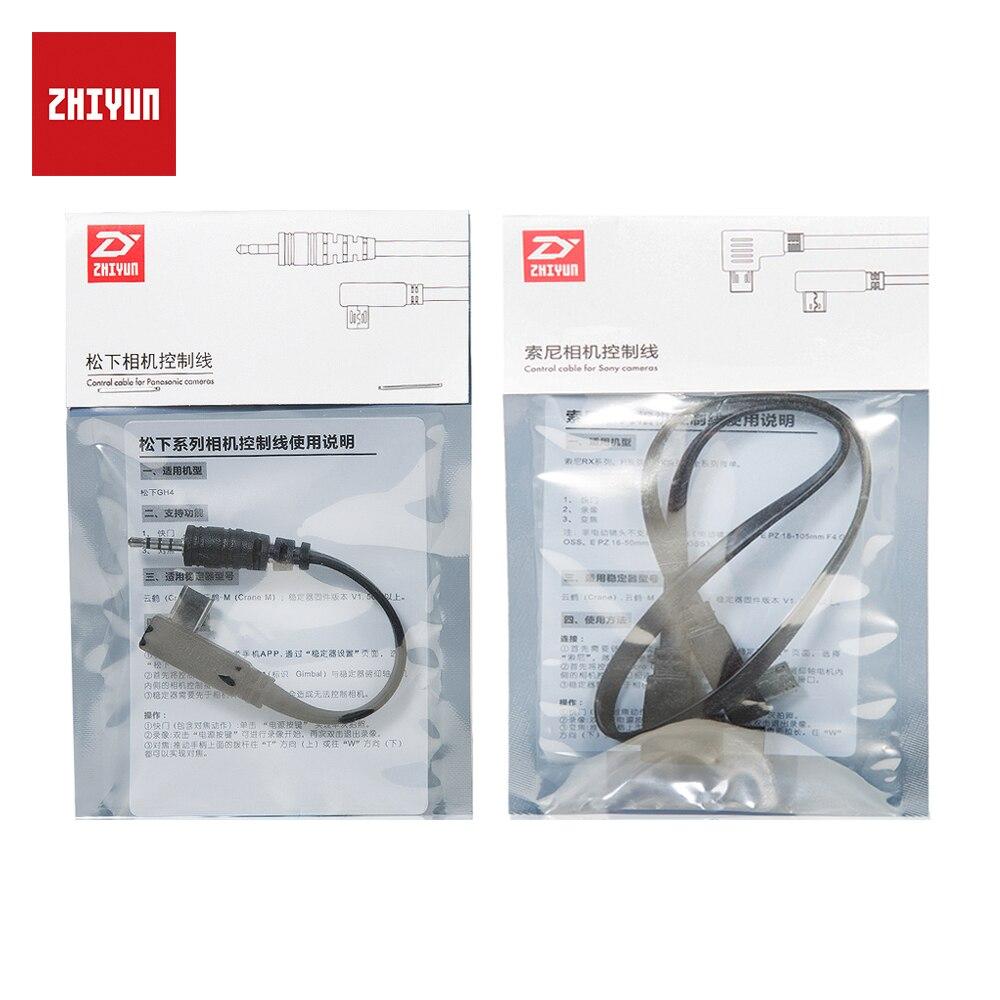 Oficial de ZHIYUN grúa más grúa V2 Crane M Connection Cables de Control para Sony para Panasonic cámaras
