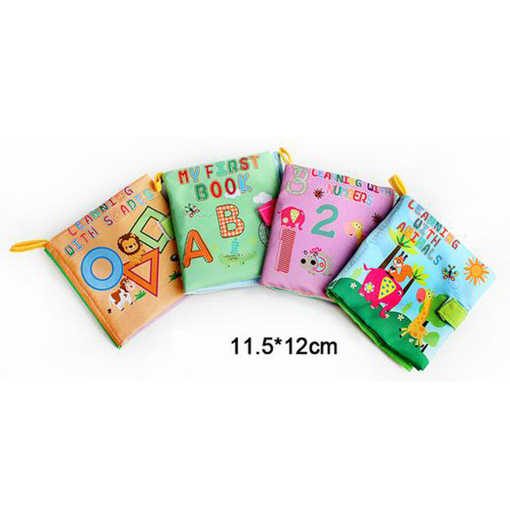 4 Style Educational Baby Toys Rattles Soft Cloth Books Toys For Newborns Rustle Sound Stroller Crib Bed Baby Toy 0-36 Months 16