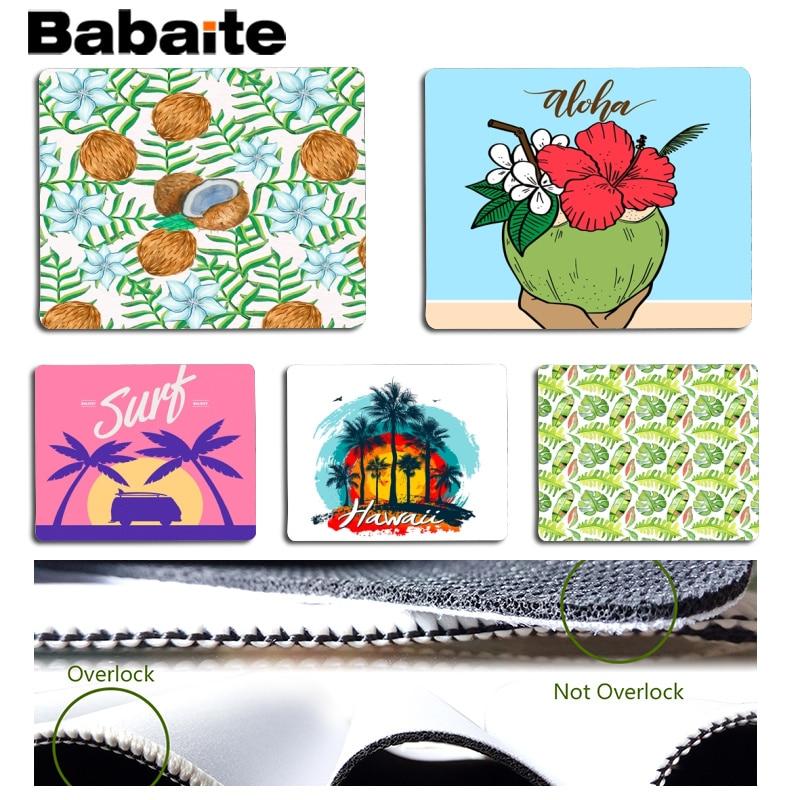 Babaite Vintage Cool Coconut Customized MousePads Computer Laptop Anime Mouse Mat Size for 18x22cm 25x29cm Rubber Mousemats