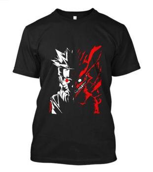 2018 mejores camisetas Naruto Kyuubi cara fuera de jinuurki corto Sve hombres blla camiseta tamaño S-5XL manga corta camisetas Casual de cuello redondo