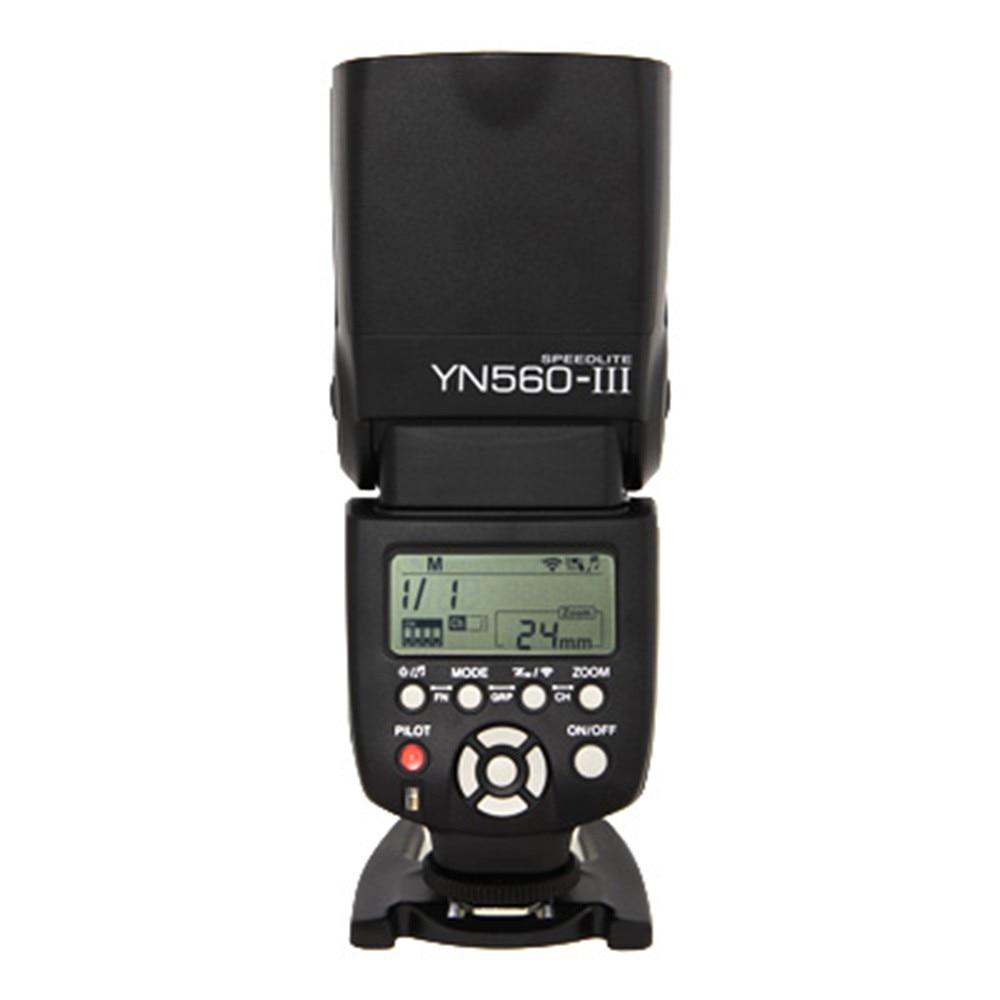 Yongnuo YN-560 III YN560III YN560 III Manual Speedlite Flash Light For Canon Nikon Pentax Panasonic DSLR Cameras jjc 3 in 1 stacking grid light modifier system for canon yongnuo black