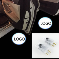 NO Drill LED Car Door Logo Projector Laser Light Emblems Welcome Ghost Shadow Logo Lamp FOR