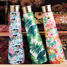 Plantain Flamingo II Coke Bottle Star Series Cup Mug Creative Lady Double vacuum Insulation  sport water cup