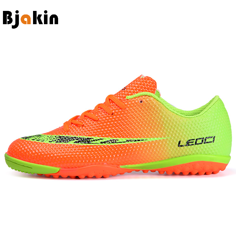 Bjakin Boy Kids Men Soccer Cleats Shoes Indoor Turf Football Shoes Broken Nails Train Sneakers Zapatillas Futbol Sala Hombre