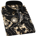 Floral Men Shirt Slim Fit Short Sleeve Men Dress Shirt Male Clothes Social Shirt Chemise Homme Plus Size