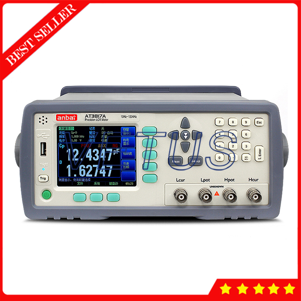 AT3817A TFT LCD Display Precision Digital LCR Meter With 10Hz 100kHz Frequency