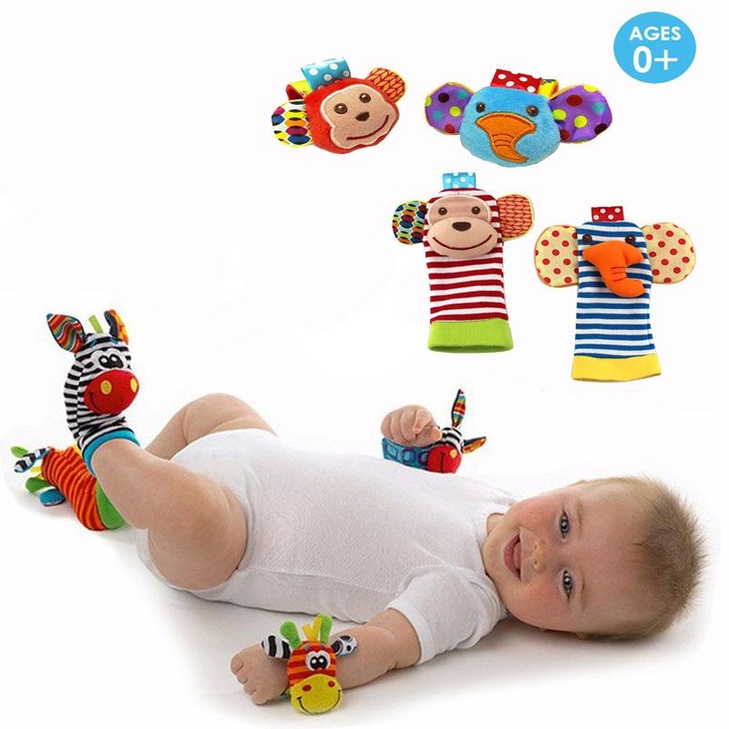 Lodrat e foshnjave të bebeve bebe trondit / çorape 2 copë / set - Lodra për bebe - Foto 2