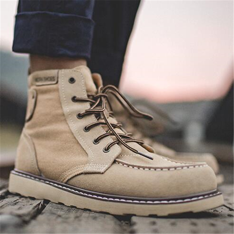 Luxury Vintage Men boots Genuine leather Lace Up Motorcycle boots Classic Fashion Male Tooling shoes Ankle boots 061 - 6