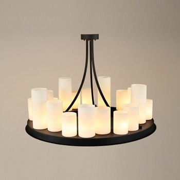 Glass Candle Holder | Circular Led Pendant Lamp American Retro French Designer Style Marble Candle Holders Droplight Village Restaurant Glass
